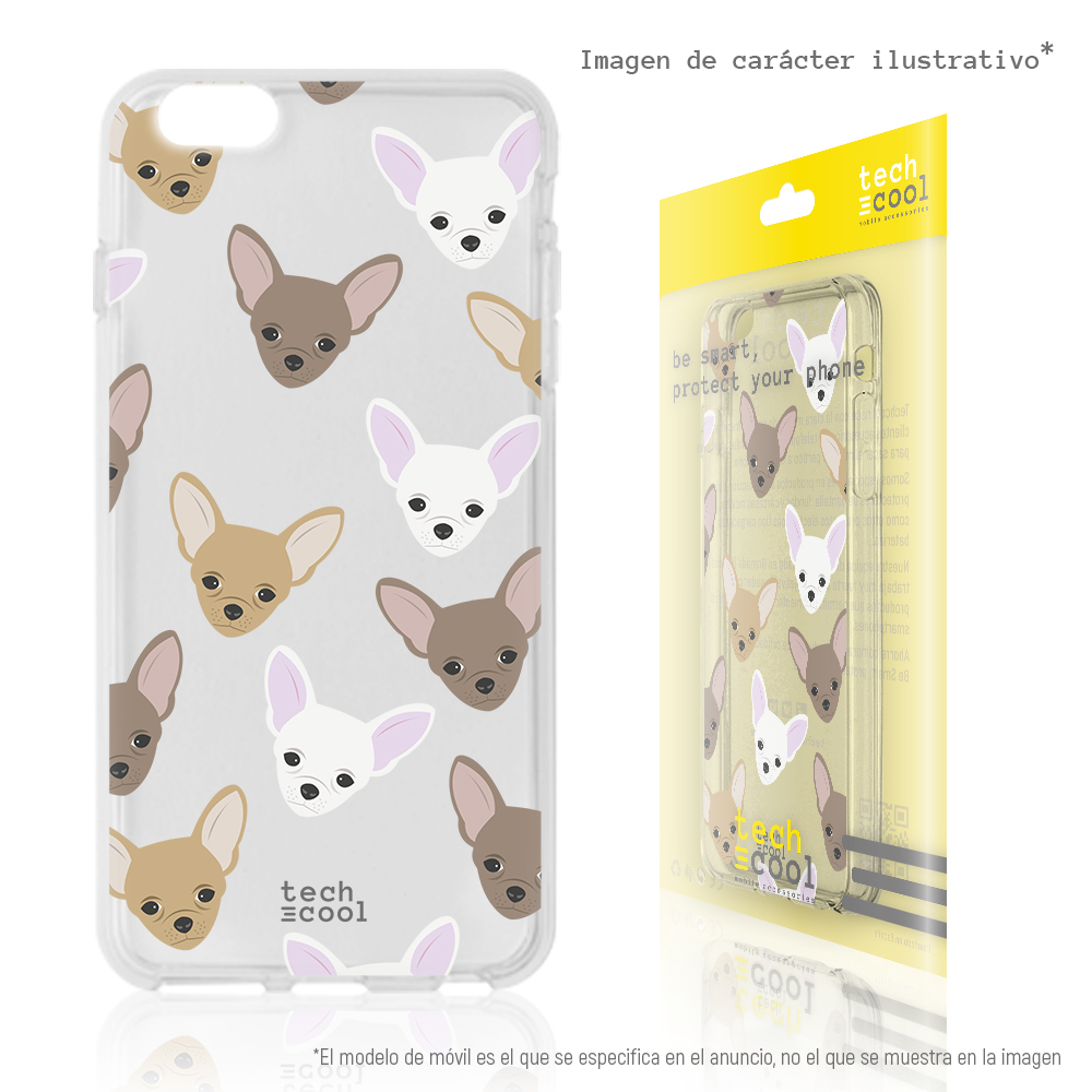 FunnyTech®Silicone <font><b>Case</b></font> for Huawei Y5 2018 / <font><b>Honor</b></font> <font><b>7S</b></font> l Mini chihuahua transparent image