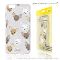 FunnyTech®Stand case for Samsung Galaxy S6 Edge Plus Mini Chihuahuas Clear Silicone