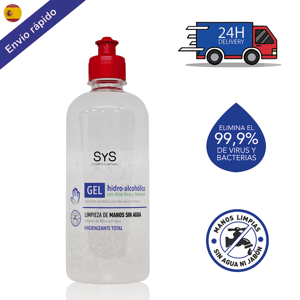 GEL HIDROALCOHOLIC HANDS 500 ML/sanitizer-ANTISEPTIC-cleaning HANDS-with ALCOHOL And ALOE VERA