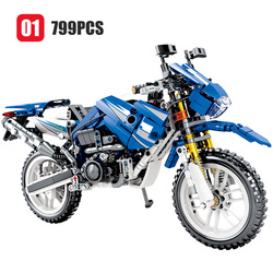 SEMBO New 799PCS City Moto Racing Motorbike Building Blocks Legoingly Technic Motorcycle Vehicles Bricks Toys Gifts For Children