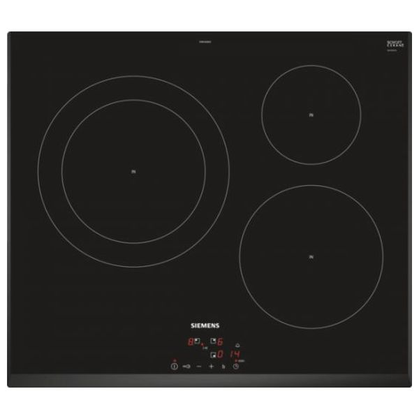 Induction Hot Plate Siemens AG EH651BJB1E 60 Cm Black (3 Cooking Areas)