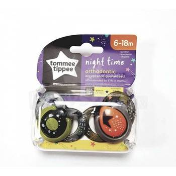 Tommee Tippee Closer to Nature Night Time Newborn Baby Pacifier, 0-6 Months 43336296