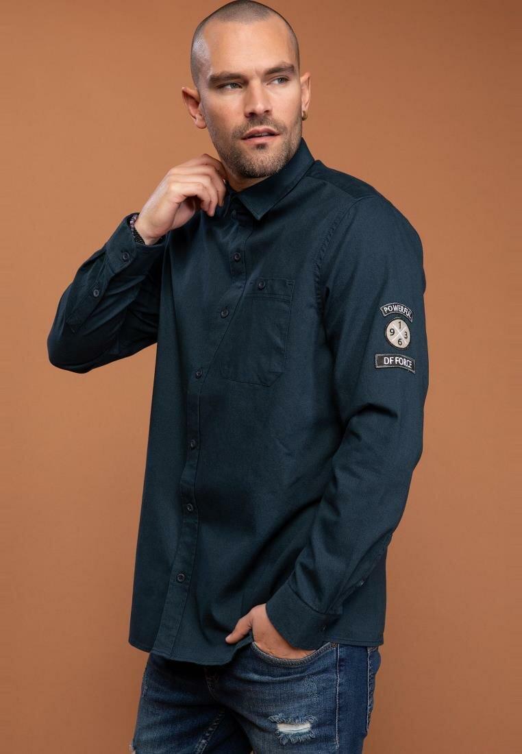 DeFacto Autumn Man Fashion Long Sleeve Shirt Male Casual Solid Comfort Blousers Men's Leisure Loose Shirts New - I9276AZ18AU