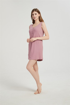Blusón De Algodón Para Verano, Pijama De Mujer Tipo Camisón De Tirantas, Diferentes Colores Y Tallas