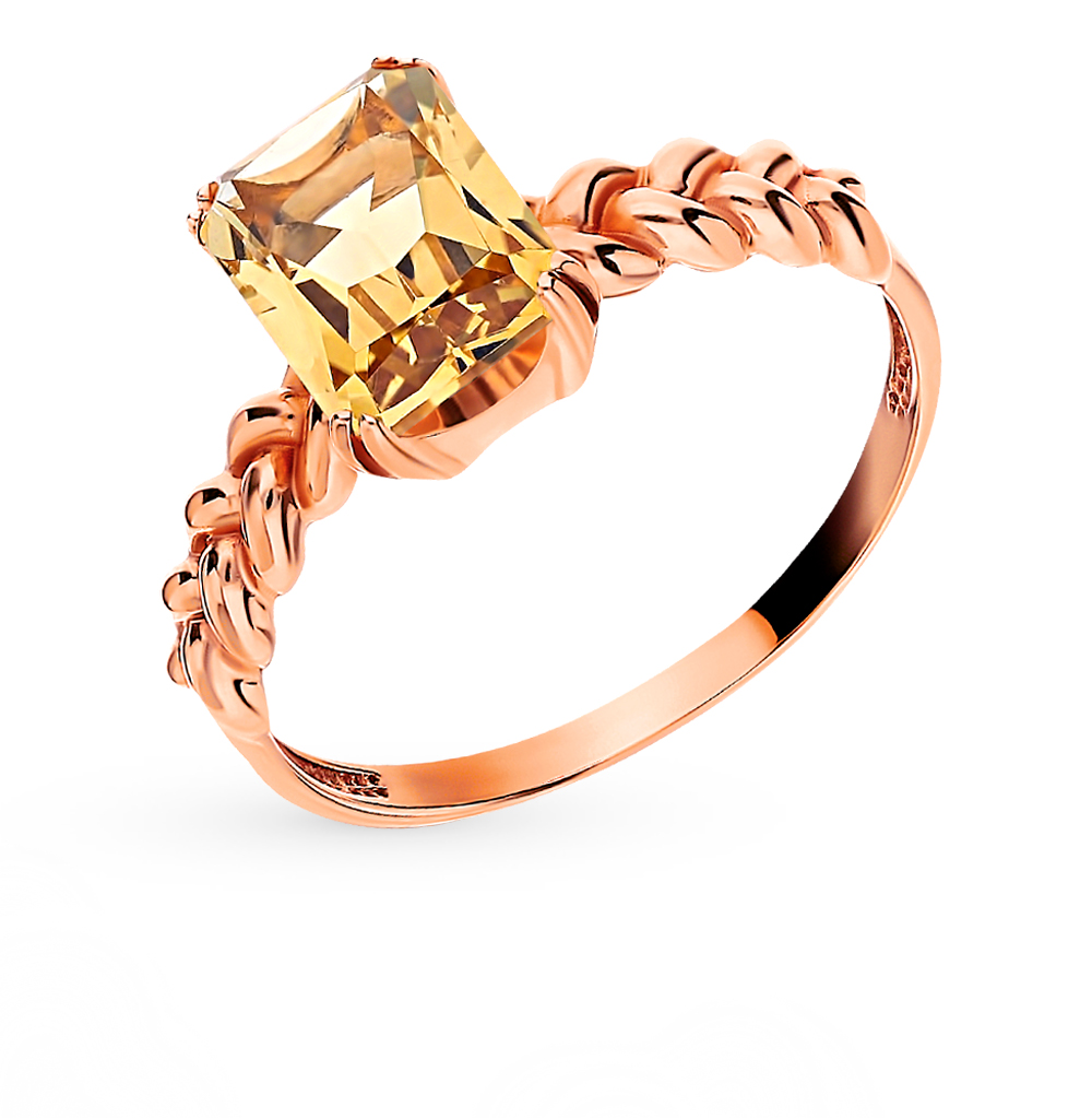 Gold Ring With Citrine SUNLIGHT Test 585