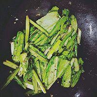 豆豉油麦菜的做法图解5