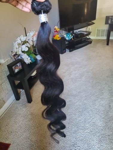 Ishow Body Wave Bundles Human Hair Body Wave Hair Extensions 30 Inch Virgin Hair Bundles Brazilian Hair Weave Bundles Sew In photo review