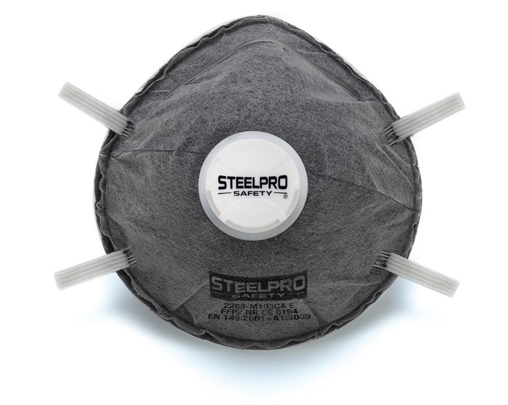 Pack 20 Units Autofiltrantes Masks FFP2 Disposable With Exhalation Valve Gray