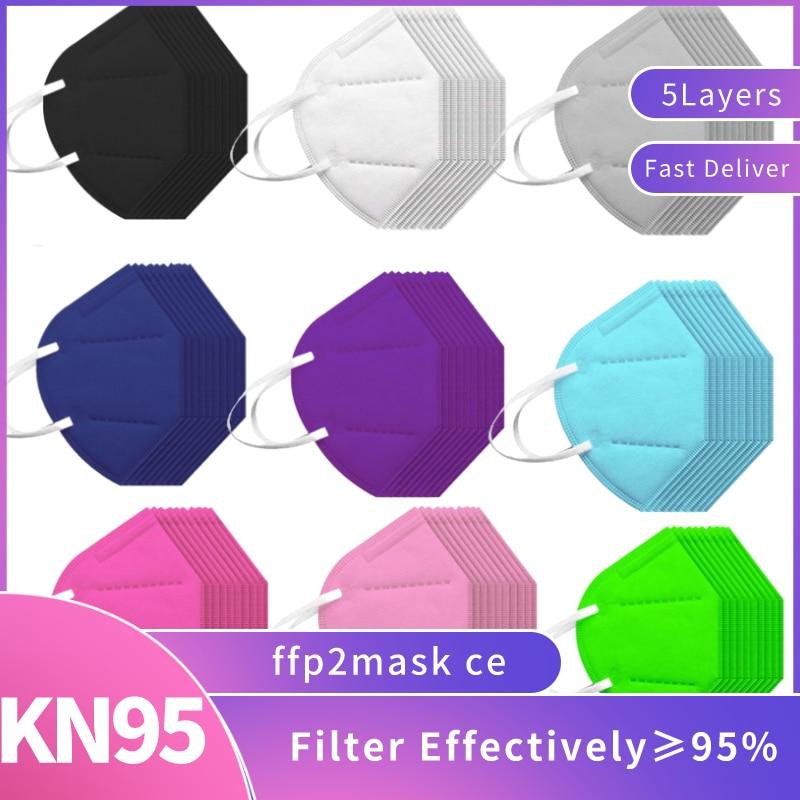 20/50 шт mascarilla fpp2 homologada женские мужские черные kn95 maskes модная дизайнерская Повседневная дышащая маска для ухода за кожей лица mondkapjes mascherine
