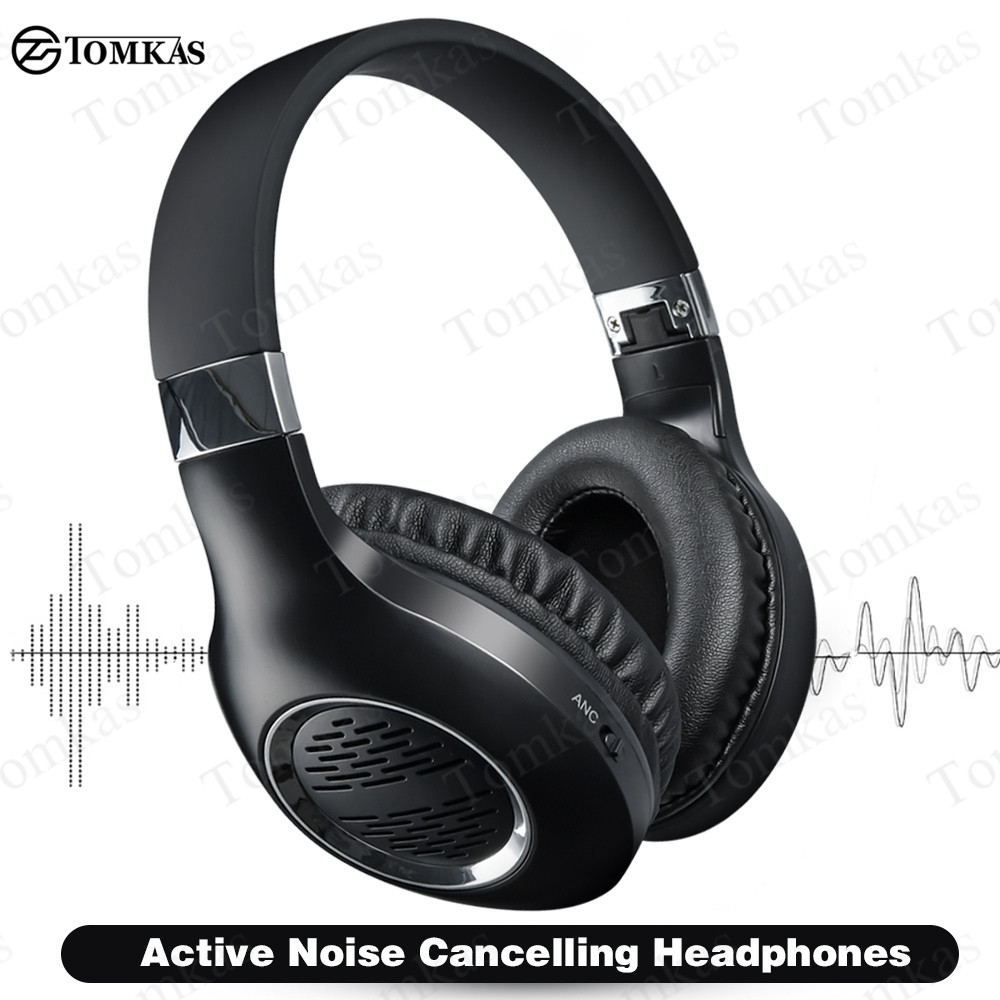 Bluetooth Headphones Active Noise Canceling Wireless Headphones ANC Bluetooth Gaming Headsets HiFi Stereo With Mic For Phone