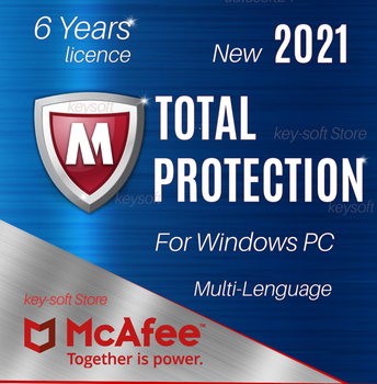 Antivirus McAfee Total Protection 1 PC /  6 Years Key licence