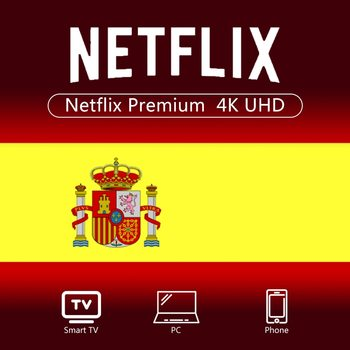 Spain 100% Warranty 1 Year Netflix Account 4K Premium Ultra HD Global for Android TV PC Laptop IOS