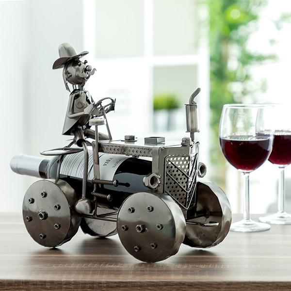 Metallic Tractor Bottle Holder