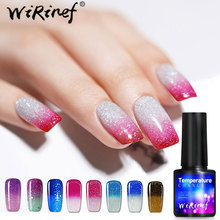 Gradient Color 8ml Gel Polish Gel Nail Polish Temperature Color Changing Fast Dry Manicure Varnish Gradient Nail Lacquer gradient color jumper
