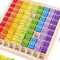 Обучающие деревянные игрушки Монтессори для детей, детские игрушки, таблица умножения 99, математические арифметические учебные пособия