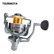 TSURINOYA Fishing Lure Reel FS 4000 5000 9+1BB MAX Drag 11KG Saltwater Freshwater Spinning Carp Reel JIG Feeder Reel Wheel