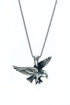 Three-Dimensional Special Design Long Chain Eagle Silver Necklace