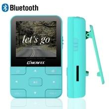 Venda ruizu c56 mp3 player bluetooth portátil esportes pedômetro clipe de música jogador rádio fm micro cartão sd 1.8 tela cronômetro