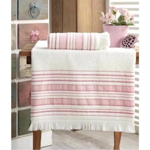 Turkish Fabric Fiesta Bath Towel Set 70x140 cm and 50x90 cm Dark Powder 2021 Towel Set