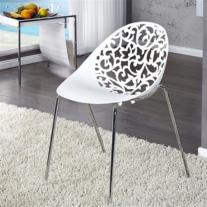 Chair GIN Chrome White Polypropylene