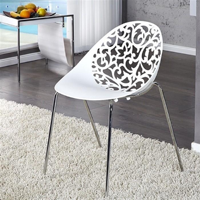 Chair GIN Chrome White Polypropylene