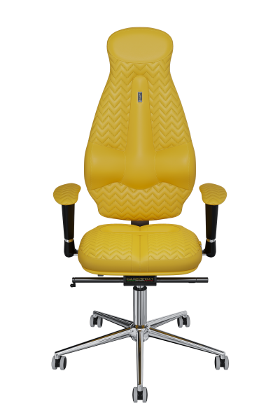 Office Chair KULIK SYSTEM GALAXY Yellow Computer Chair Relief And Comfort For The Back 5 Zones Control Spine