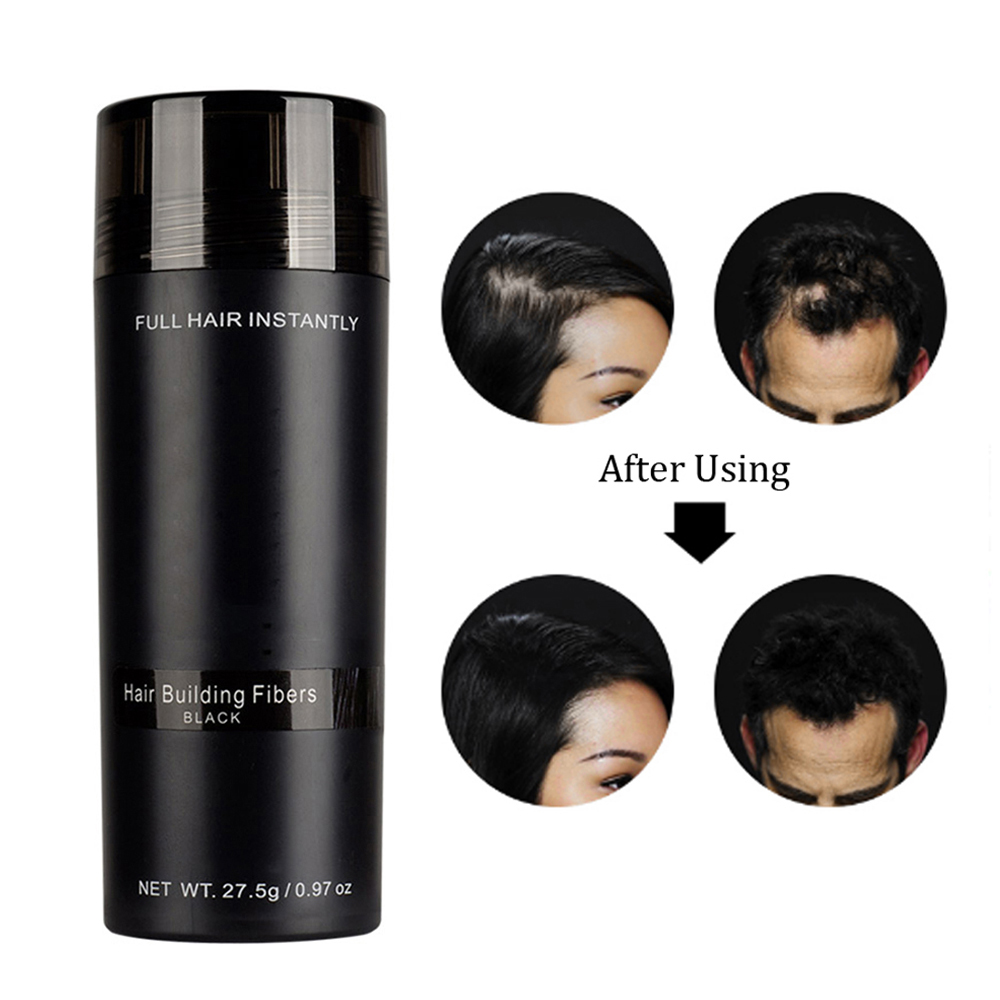 Authentic Keratin Hair Loss Building Fibers+Applicator Spray +27.5g Hairline Optimizer Dense Organic 9 Colors Hair Growth Powder