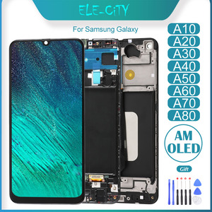 OEM For Samsung Galaxy A10 A20 A30 A40 A50 A60 A70 A80 A90 A40s A30s AMOLED Touch Screen Display With Frame Assembly Replacement