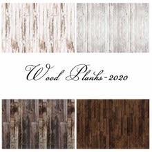 NeoBack Eco Vinyl Dark Brown White Wood Plank Floor Photography Background Photophone Studio Portrait Photo Backdrop Photophone