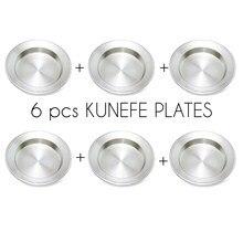 Kunefe-platos para servir de alta calidad, 6 uds., famosa plato de postre, presentación, de aluminio, para cocina y comedor