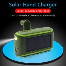 Đa Năng Năng Lượng Mặt Trời Power Bank 6000/8000MAh Tay Quay Động Lực Dùng Đôi USB Ngoài Trời Năng Lượng Mặt Trời Sạc Di Động PoverBank