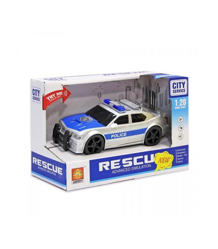Police Car 1:20 Scale With Light And Sounds FT Toy Store Articles Created Handbook