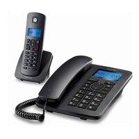 유선 전화 Motorola C4201 Combo DECT (2 pcs) 검정