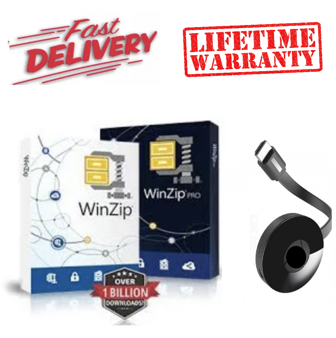 LIFETIME Win Ziip 24 Professional works on Laptops PCs Desktop Computers For 32 64 bits Wireless
