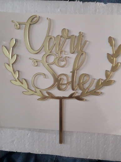 Materiais p/ decoração de bolo Casamento Casamento Topper
