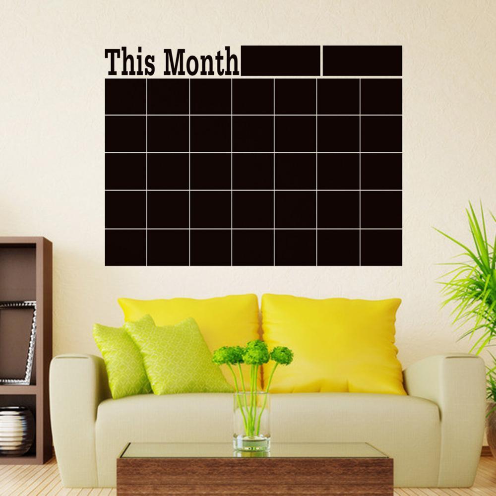 Cobee 58x43 Monthly Blackboard Sticker Planner Calendar Essential Memo Chalk Board Blackboard Complement Livingroom