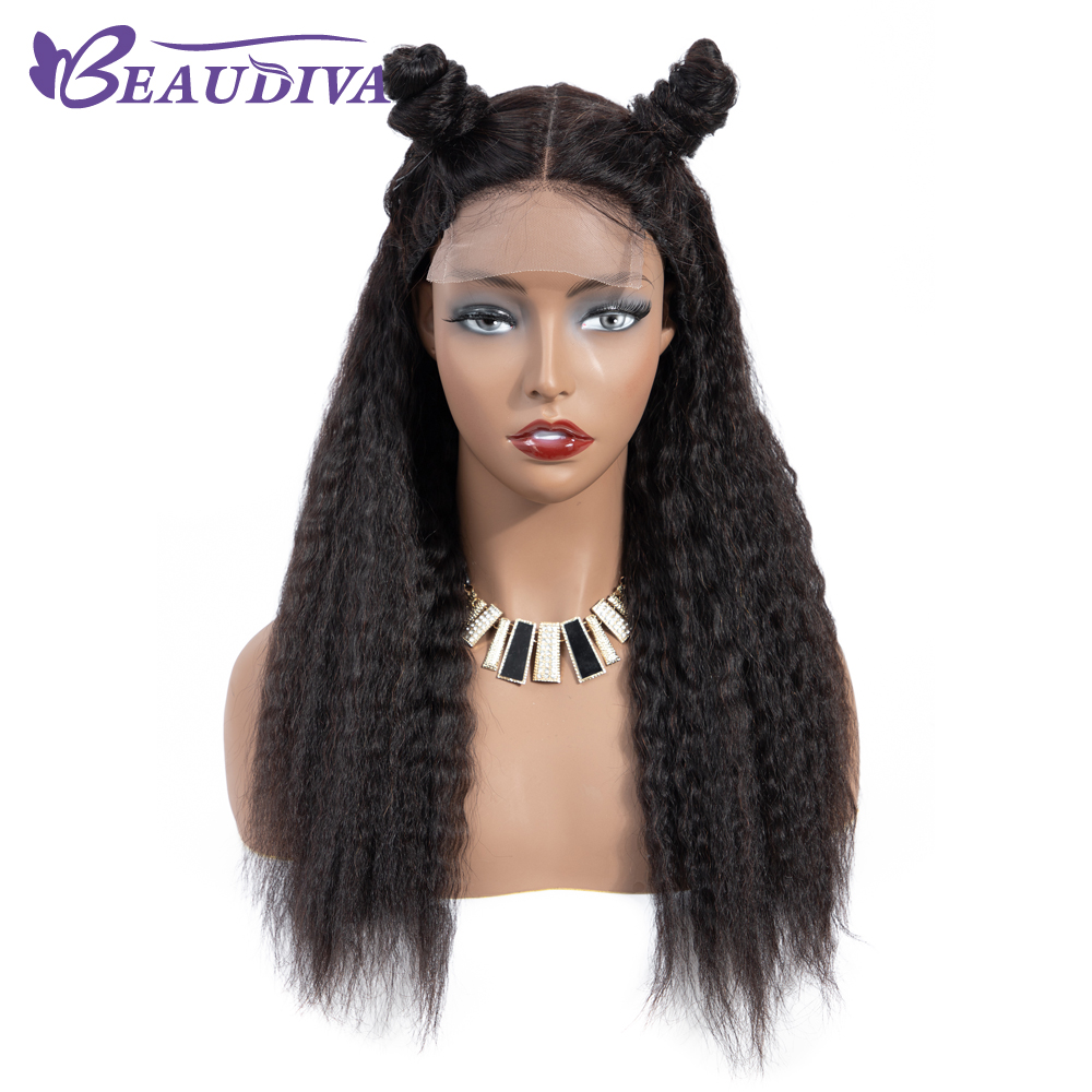 Kinky Straight Lace Closure Wig 4*4 Inch Lace Wigs Brazilian Human Hair Wigs Remy Lace Closure Human Hair Wigs For Women