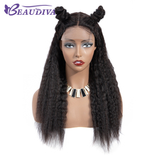 Kinky Straight Lace Closure Wig 4*4 inch lace wigs Brazilian Human Hair Wigs Remy For Women