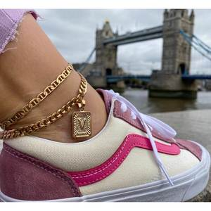 Gold Anklet Bracelet Chain Capital Stainless-Steel Initial Women for Alphabet Gifts
