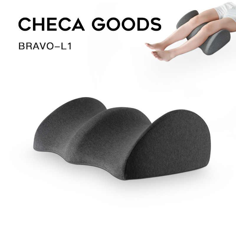 CHECA-oreiller au genou pour les douleurs au dos | Fournit un soulagement et un soutien pour dormir sur le côté ou le dos, oreiller en mousse à mémoire pour les jambes