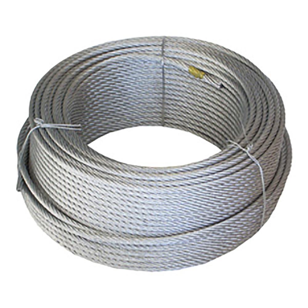 Cable De Acero 5 Mm Galvanizado 6 X 7 X 1 Wurko