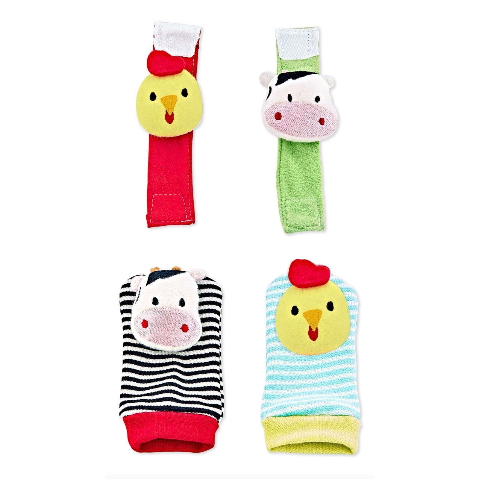 Ebebek Babyjem Rattle Socks And Bracelet Chick
