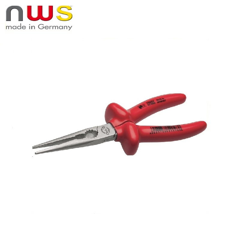 NWS Long Nose Straight dielectric. 1000V VDE 170 mm, Crom coating, double insulation Long nose Pliers Press Tool Multi tool fashion long layered capless elegant straight tail adduction synthetic adiors wig for women