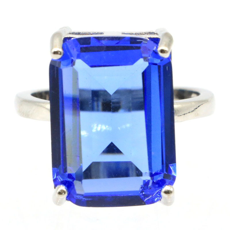 18x13mm Gorgeous 18x13mm Rich Blue Violet Tanzanite Gift For Woman's Jewelry Making Silver Rings