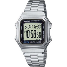 Casio Men's Illuminator Stainless Steel Watch Unisex Retro Original Dig