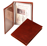 Bon Voyage Unisex Vintage Auto Driver License Cover Holder For Car Driving Documents Made Of Genuine Leather Or Nubuck