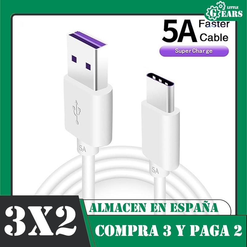 USB-кабель Type-C для зарядки, 5 А, 1 м, 1,5 м, 2 м, 3 м