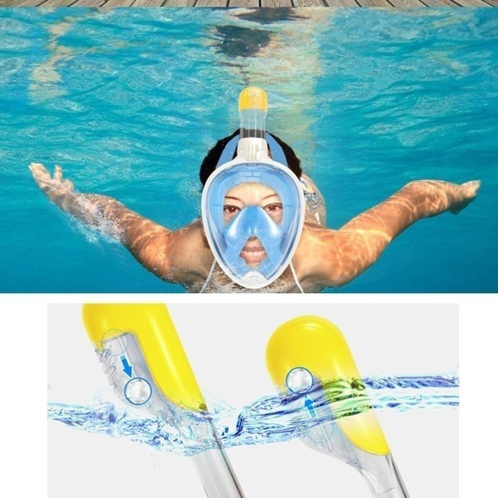 Mask Full Face Scuba Diving Snorkeling Underwater Anti Fog Swimming Spearfishing Men Women Goggles Mount Wide View Adult Youth