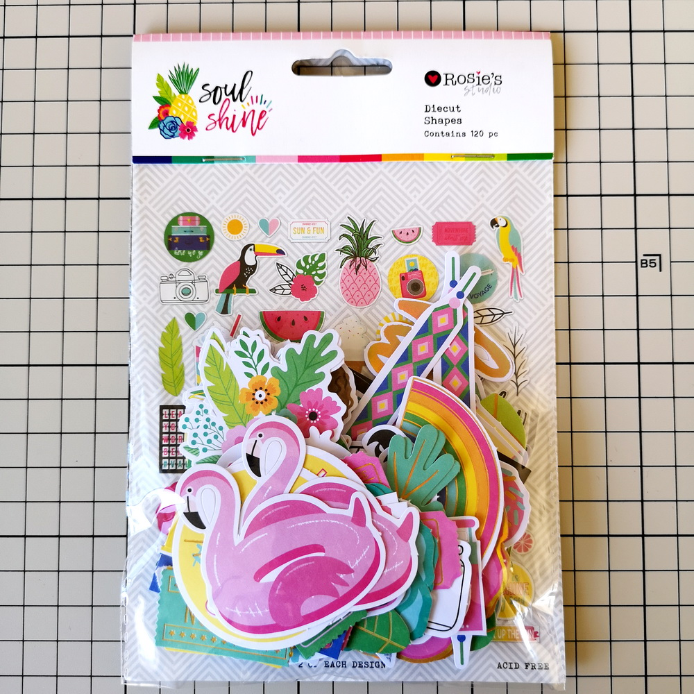 CRZCrafter 120pc Printed Paper Diecut Shapes Foil Design Scrapbooking Cardmaking Journal Embellishments