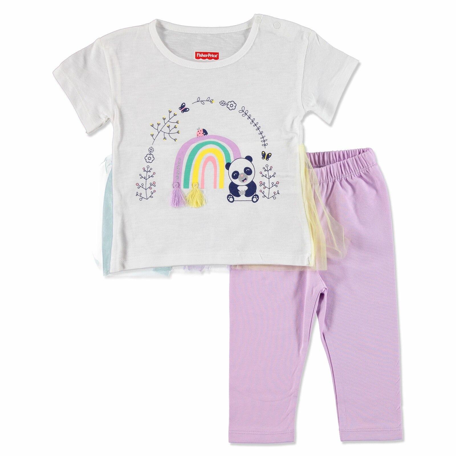 Ebebek Fisher Price Summer Baby Girl My Rainbow T-shirt Leggings Set